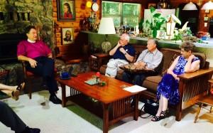 Bishop Rickel's 2014 visit with the Bishop's Committee.